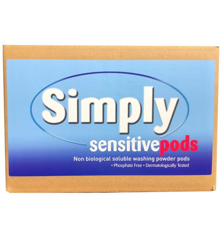 100 Simply Sensitive non-biological laundry powder-tabs Bulk box