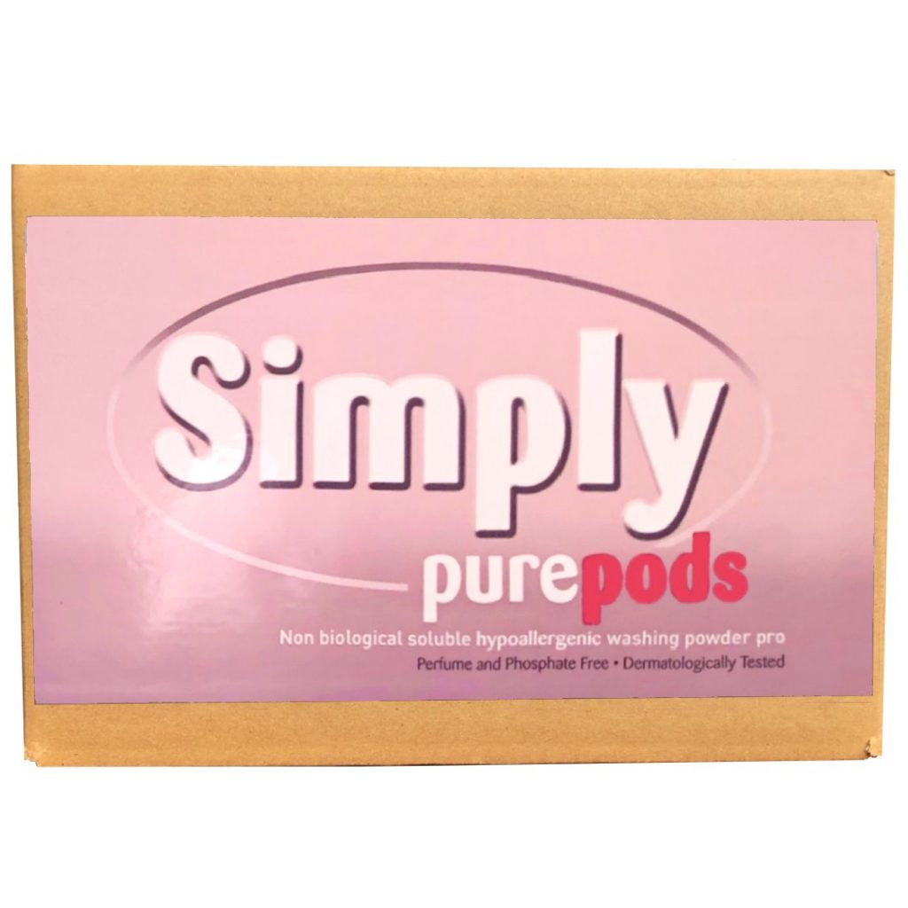 100 Simply Pure laundry non-biological hypoallergenic powder-tabs bulk box