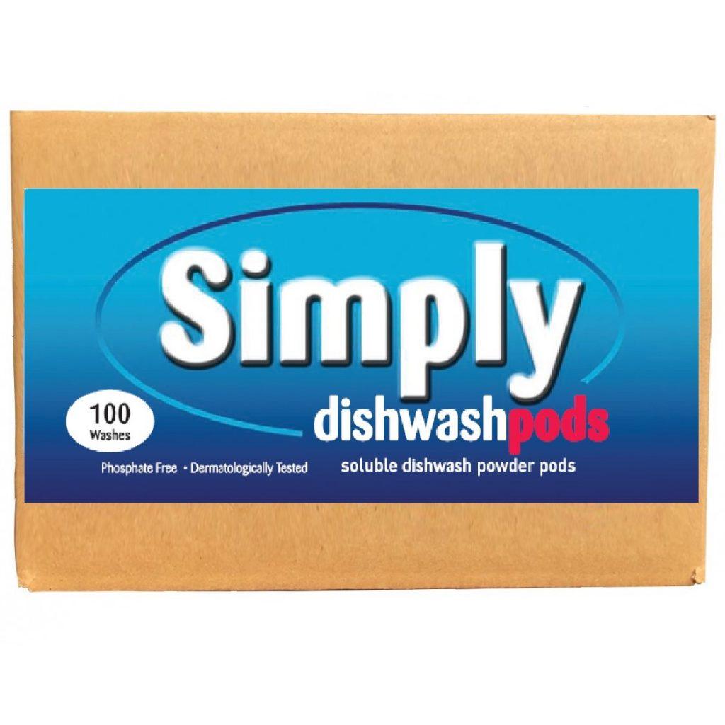 100 Simply Dishwash Powder-tabs Bulk box