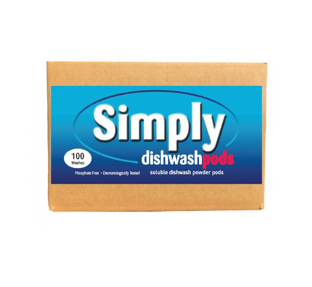 100 Simply Dishwash Powder-tabs Bulk box